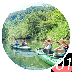 ピナイサーラの滝・滝上滝つぼ カヌー&トレッキングツアー